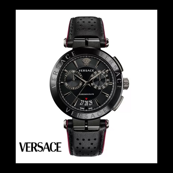 Versace Other - Versace Aion Chronograph Leather Watch ♠️